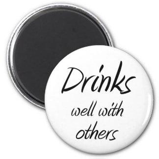 De grappige het drink magneten van de de