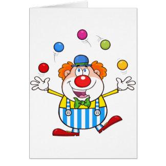 De grappige het Jongleren met van de Clown Kaarten