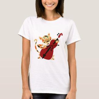 De grappige het Spelen van de Kat van het Calico T Shirt