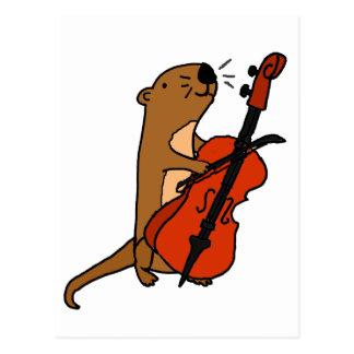 De grappige het Spelen van de Otter van het Zee Briefkaart