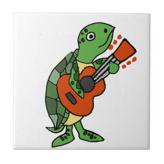 De grappige het Spelen van de Schildpad van het Keramisch Tegeltje