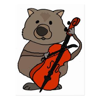 De grappige het Spelen van de Wombat Cartoon van Briefkaart