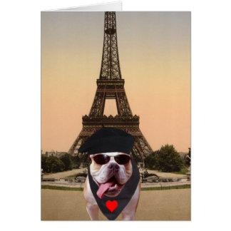 De grappige Hond Frans Valentijn van de Stier Wenskaart