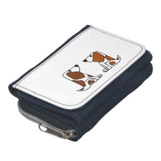 De grappige Honden van het Puppy van Basset Hound Portemonnee
