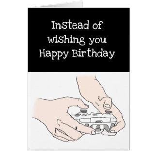 De grappige Humor van Geek van de Verjaardag van Kaart