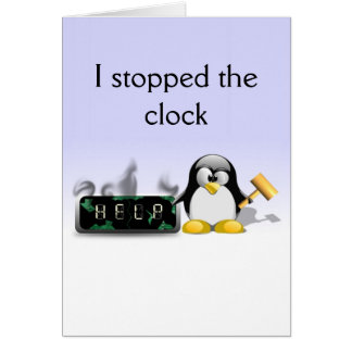 De grappige Kaart van de Moederdag van de Pinguïn