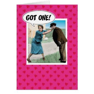 De grappige kaart van de Valentijnsdag: Gekregen!