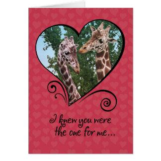 De grappige Kaart van de Valentijnsdag van Kaart