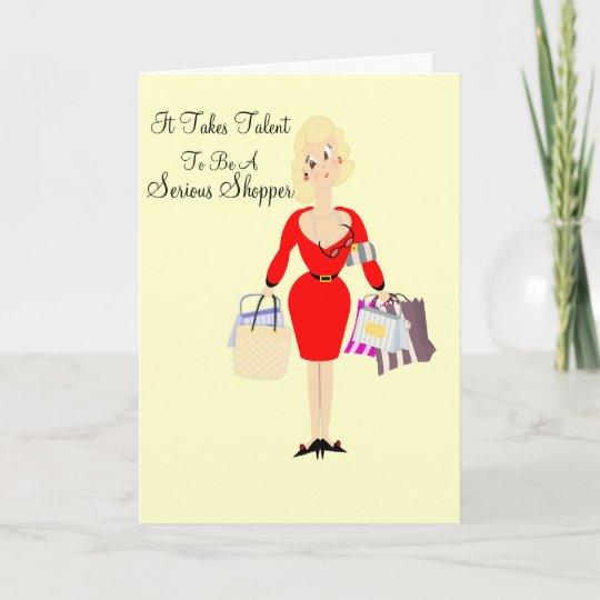 De Grappige Kaart Van De Verjaardag Dame Shopping Zazzle Nl