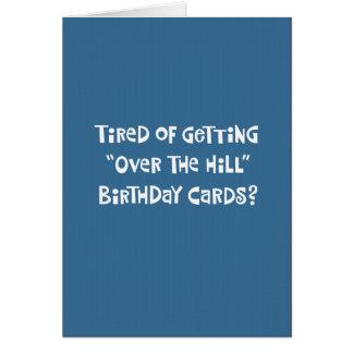 """De grappige Kaart van de Verjaardag """"over van de"""
