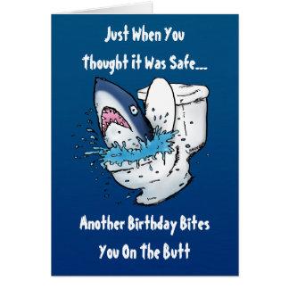 De grappige Kaart van de Verjaardag van de Haai
