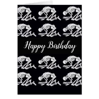 De grappige Kaart van de Verjaardag van het Skelet