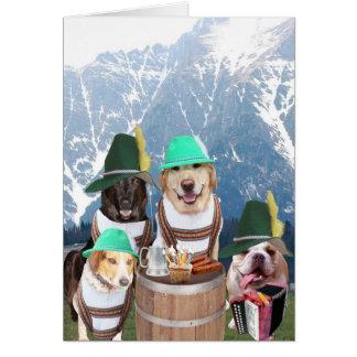 De grappige Kaart van de Verjaardag van Honden