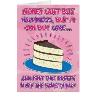 De grappige Kaart van de Verjaardag voor vrouw -