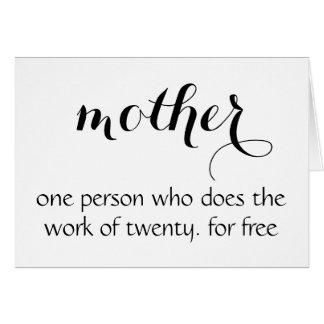 De Grappige Kaart van het moederdag -