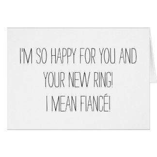 De grappige Kaart van het Verloving