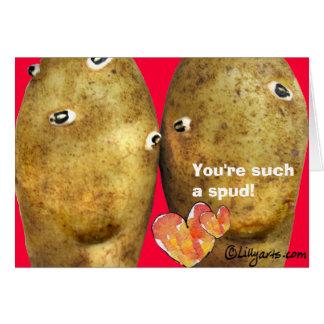 De grappige Kaart van Valentijn van de Aardappels