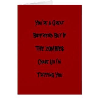 De grappige Kaart van Valentijn van de Zombie
