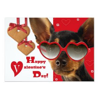 De grappige Kaarten van de Valentijnsdag van de 12,7x17,8 Uitnodiging Kaart