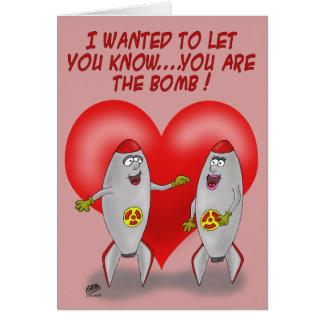 De grappige Kaarten van Valentijn: U bent de Bom