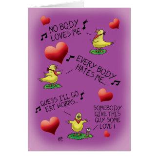 De grappige Kaarten van Valentijn: Vogel-worm