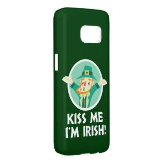 De grappige Kabouter kust me ik ben Ierse Heilige Samsung Galaxy S7 Hoesje