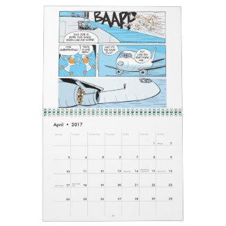 De grappige Kalender van de Cartoons van de