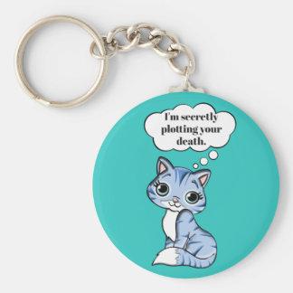 De grappige Kat die van het Kat Uw Dood in kaart Sleutelhanger