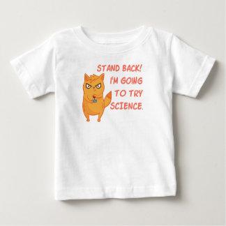 De grappige Kat van het Kat van de Wetenschapper Baby T Shirts