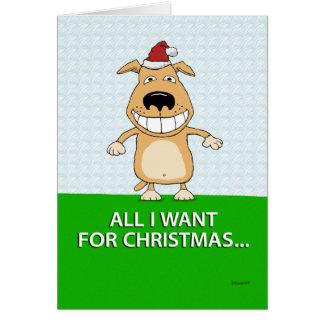 De grappige Kerstkaart van de Hond Kaart