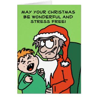 De grappige Kerstkaart van de knorrige Kerstman Briefkaarten 0