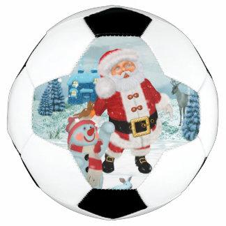 De grappige Kerstman met sneeuwman