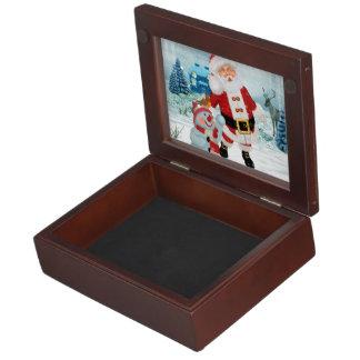 De grappige Kerstman met sneeuwman Herinneringen Doosje