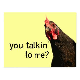 De grappige Kip van de Houding - u talkin aan me? Briefkaart