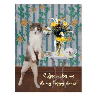 De grappige Klantgerichte Kat/het Kat van de Briefkaart
