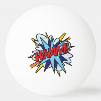 De grappige KLAP van het Pop-art WHAM van het Boek Pingpongbal
