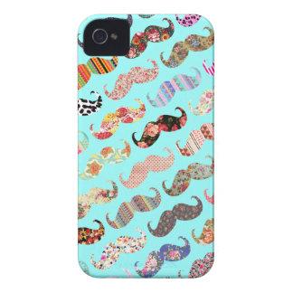 De grappige Kleurrijke Azteekse Snorren van iPhone 4 Hoesje
