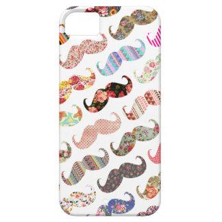 De grappige Kleurrijke Snorren van Patronen Girly Barely There iPhone 5 Hoesje