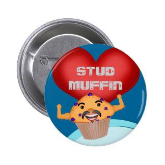 De grappige Knoop van de Muffin van de Nagel Ronde Button 5,7 Cm