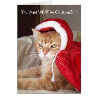 De grappige Knorrige Humor van de Kerstkaart van Kaart