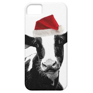 De grappige Koe van de Kerstman van Kerstmis Barely There iPhone 5 Hoesje