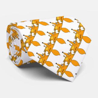 De grappige leuke rode gevormde vossen van de custom stropdas