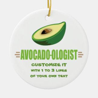 De grappige Minnaar van de Avocado Rond Keramisch Ornament