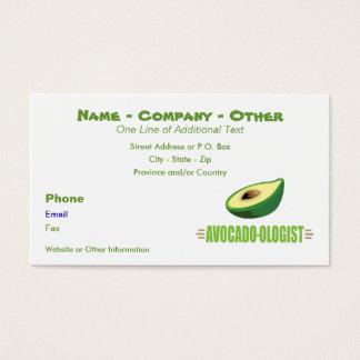 De grappige Minnaar van de Avocado Visitekaartjes
