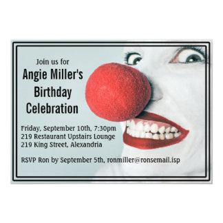 De grappige Moderne Verjaardag van het Gezicht van 12,7x17,8 Uitnodiging Kaart