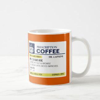 De grappige Mok van de Koffie van het Voorschrift