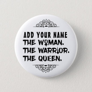 De grappige Naam van de Douane de Vrouw de Ronde Button 5,7 Cm