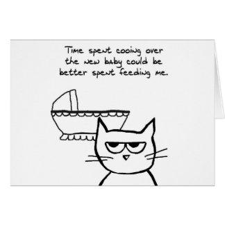 De grappige Nieuwe Kaart van het Baby - de Kat is