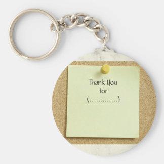 De grappige Nota van de Post-it dankt u Keychain Sleutelhanger