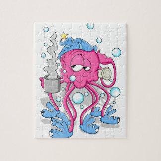 De grappige Octopus van de Cartoon Puzzel